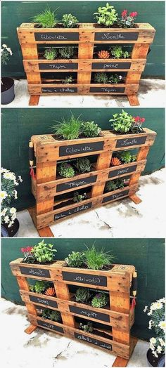 Plans of Woodworking Diy Projects - Creative Beginners Friendly Woodworking DIY Plans At Your Fingertips With Project Ideas, Tips and Tricks Get A Lifetime Of Project Ideas & Inspiration! Pallet Garden Ideas Diy, Pallets Garden, Diy Pallet Projects, Wood Pallets, Pallet Wood, Pallet Gardening, Organic Gardening, Wood Pallet Planters, Garden Ideas With Pallets