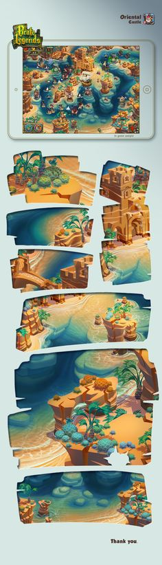 Pirate Legends TD Background 3 by Adrian Andreias, via Behance