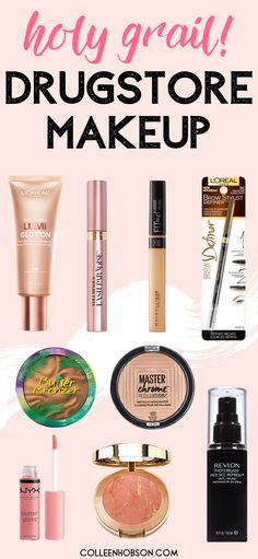 Don't end up with a drugstore makeup dud. These are all the best drugstore makeup products you need in your makeup bag. products drugstore The Best Drugstore Makeup Products Ever! Best Drugstore Concealer, Maybelline Fit Me Concealer, Drugstore Beauty, Drugstore Foundation, Beauty Dupes, Best Eyebrow Products Drugstore, Makeup Foundation, Best Bb Cream Drugstore, Revlon Products