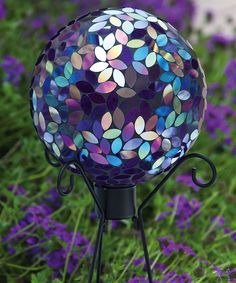 Look at this Flower Petal Mosaic Gazing Ball on #zulily today!