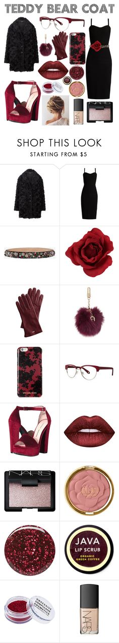 """teddy bear coat"" by kaffyanderson2003 ❤ liked on Polyvore featuring MaxMara, Alexander McQueen, Mark & Graham, Etienne Aigner, Michael Kors, Zac Posen, Chinese Laundry, Lime Crime, NARS Cosmetics and Milani"