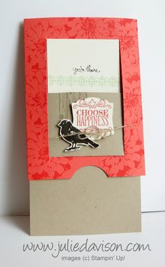 Julie's Stamping Spot -- Stampin' Up! Project Ideas Posted Daily: VIDEO: Hidden Message Slider Card Tutorial