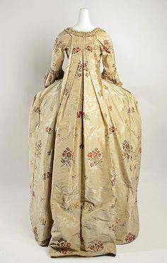 Dress (Robe à la Française). Date: 1750–75. Culture: French. Medium: silk. Dimensions: Length: 61 in. (154.9 cm).