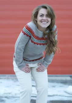 Ingrid Pullover Knitting pattern by Isabell Kraemer : Fair Isle Ingrid Pullover. Ingrid Pullover Knitting pattern by Isabell Kraemer : Fair Isle Ingrid Pullover to keep you cozy t Knitting Designs, Knitting Projects, Clearance Yarn, Yarn Bee, Ravelry, Sport Weight Yarn, Seed Stitch, Arm Knitting, Yarn Colors