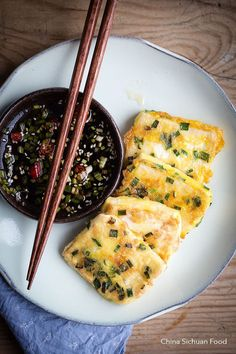 Pan-fried Tofu with Egg and Chive – China Sichuan Food
