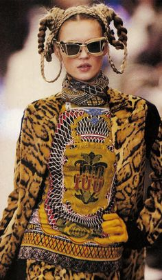 """"""" Kate Moss, Jean-Paul Gaultier Fall/Winter 1994 """""""