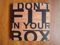 Wood Quote Art