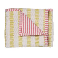 Pink/Citron Quilted Nursery Blanet - Petit Pehr