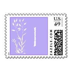 I Monogram (Violet Lavendar Plant) Postage Stamps