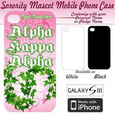 Alpha Kappa Alpha Sorority Mascot Phone Case $19.95 #Greek #Sorority #Accessories #PhoneCase #iPhone #AlphaKappaAlpha #AKA