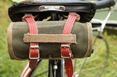 Waxed Canvas Bike Tool Roll  Earth Friendly by NewLeafFabrications, $24.00