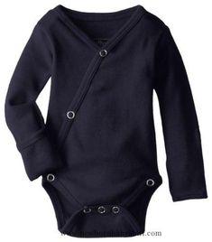 Baby Boy Clothes L'ovedbaby Unisex-Baby Organic Cotton Kimono Long Sleeve Bodysuit, Navy, 0/3 Months