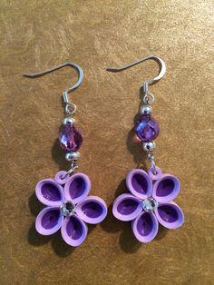 Quilled purple earrings