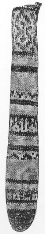 Dar Anahita: Mysterious Knit Object The original item natural cotton and 2 shades of indigo blue cotton.  between 11th and 13th centuries C.E. Photo from Tissus d'Égypt, page 267