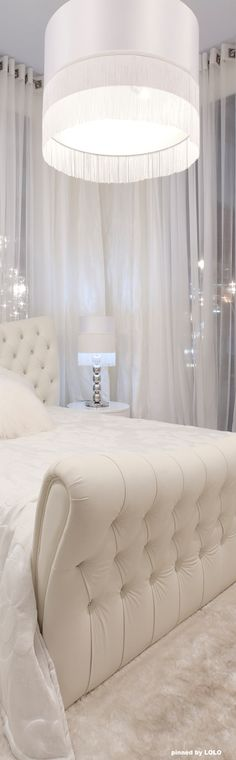 That is a truly glamorous room. I love the headboard & footboard, beautifully tufted & luxurious looking.                                                                                                                                                      More