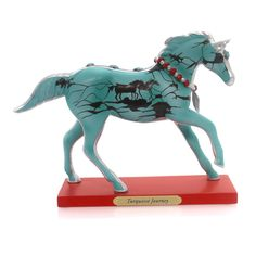 Trail Of Painted Ponies Turquoise Journey Figurine Height: 6.25 Inches Material: Polyresin Type: Figurine Brand: Trail Of Painted Ponies Item Number: Trail Of Painted Ponies 4053784 Catalog ID: 29397
