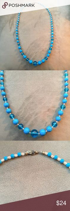 """Blue bubble necklace! Excellent condition! Blue bubble necklace made of plastic beads. Excellent condition. Measures 31"""" from end to end. Claire's Jewelry Necklaces"""