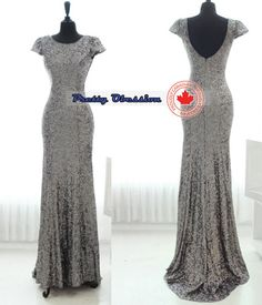 Silver Sequin Bridesmaid Dress Silver Bridesmaid by Prettyobession, $175.00