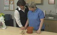 Positioning the Hand to Encourage Function  As soon as my patient begins to get any tone or movement in their hand, I encourage using it during functional tasks. - http://icelearningcenter.com/resources/therapy-tips/hand-function/positioning-hand-encourage-function