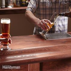 DIYers and pros share their design and how-to tips, with photos of reader-built home bars. Learn how to build a classic wood bar top, install a beer tap and