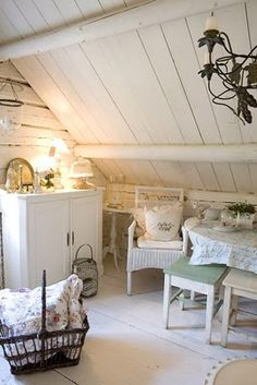 A sweet little corner in the attic, lovely