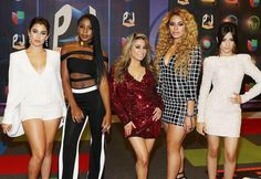 Fifth Harmony at Latin Billboard Awards, pose for the camera.