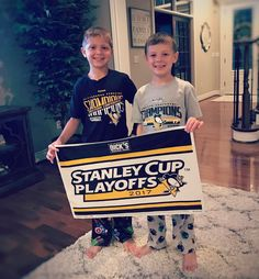 It's wild and crazy in the Mitro house tonight!! We are big Pens fans  and the excitement is high!! 3-0 Pens are up!! Let's hope our Pens gear brings us some good luck tonight!!!  . I think it's pretty cool that the boys get to experience 2 Stanley Cup finals series!! We have some amazing teams here in the Burg! #pittsburghpenguins #pittsburghbornandraised #letsgopens #pittsburgh #boymom #fans #stanleycupplayoffs