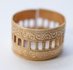 Delicate Brass Latter Band Ring, Gorgeous!