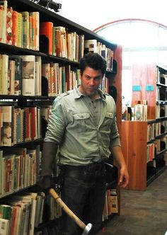 the Librarians Christian Kane as Jake Stone And The Fables of Doom episode Yorkies, Christian Kane The Librarians, Trivia, Library Memes, John Kim, Library Boards, Into The West, Book Of Life, Bibliophile