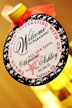 Wine gift for Wedding guests