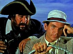 Peter Ustinov & Dean Jones (Blackbeard's Ghost - This was the first movie that I saw at the cinemas when I was ten years old. Peter Ustinov, Walt Disney Movies, Disney Men, Late Night Movies, Dean Jones, Cute Family, Family Movies, Old Movies, Movie Theater