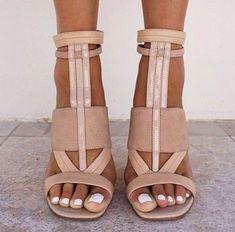 Nude Heels, Shoes Heels, Strappy Heels, Nude Sandals, Sandal Heels, Heeled Sandals, Blush Heels, Bow Sandals, Brown Heels