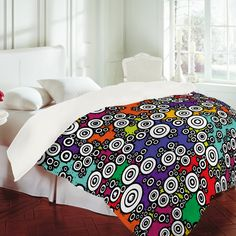 Romi Vega Buttons Retro Duvet Cover