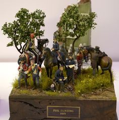 Fox Hunting, 1815.  Wellington and staff observing the French positions at Waterloo.