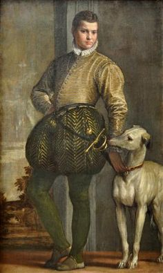 Paolo Veronese: Boy with a Greyhound. Mannerism (Late Renaissance).