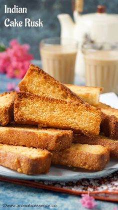 Step-by-step recipe with pictures to make Cake Rusk. Pictorial recipe to make Indian Cake Rusk. How to make Cake Rusks. Eggless Recipes, Eggless Baking, Cake Recipes, Dessert Recipes, Cooking Recipes, Eggless Biscotti Recipe, Eggless Desserts, Oven Recipes, Bread Recipes