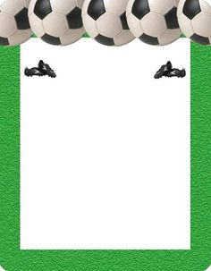 invitaciones-futbol-pelotas Letterhead Format, Kids Dishes, Page Borders Design, Football Birthday, Sports Day, Soccer Party, Exploding Boxes, Writing Paper, Christmas Morning