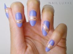 Negative Space Nails by Nail Luxxe #Nails #NailArt
