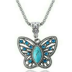 Necklace Sapphire Butterfly Necklace Jewelry Necklaces