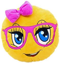 Product review for New Emojis New Smiley Emoticon Cushion Pillow Stuffed Plush Toy Doll Poop Emoji Face Bed Pillow Home Living Room Decoration Pillows USA SELLER (13X13X2 Inch, Cute Girl).  - Are you looking to buy fun and useful pillows? WEP Emoji Pillows are the best to make you smile while you are using them for multi purposes. Make your kids, friends and co-workers happy with amazing emoji plush pillows. It is a great gift idea with reasonable prices and so many differen #AndSoToBed