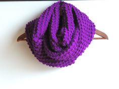 Bright Violet Infinity Scarf