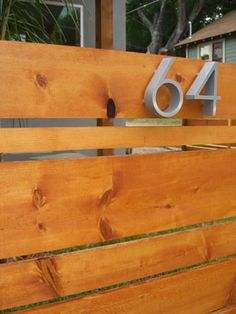 Horizontal fence with 3d numbers.