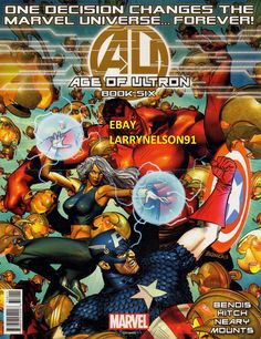 AU AGE OF ULTRON DEALER EXCLUSIVE MARVEL COMIC BOOK PROMO POSTER BENDIS HITCH CA