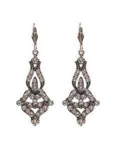 Anne Koplik Ornate Princess Earrings es7959cry ornate princess earrings silver-crystal