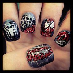 Spider-Man nails from Naileddaily.blogspot.com