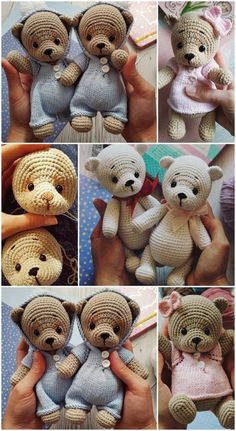 In this article we will share free amigurumi teddy bear crochet patterns. On our site you can find everything you are looking for about amigurumi. Crochet Amigurumi Free Patterns, Crochet Animal Patterns, Stuffed Animal Patterns, Crochet Animals, Crochet Teddy Bear Pattern Free, Crochet Rabbit, Cute Crochet, Baby Pattern, Rilakkuma