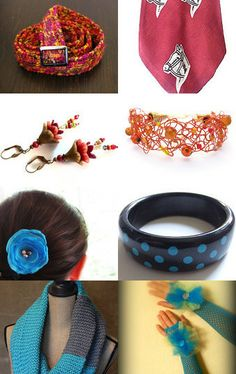 My black nad blue polka dot bangle is featured in this treasury! Accessorize Me! by Melody Charlton on Etsy--Pinned with TreasuryPin.com