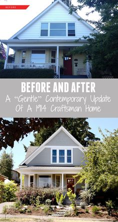 """Before & After // A """"Gentle"""" Contemporary Update Of A 1914 Craftsman Home // Seattle, Washington"""