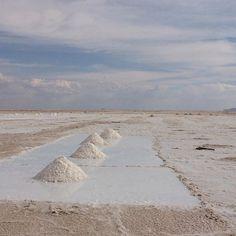 Mining salt at Salar de Uyuni, Bolivia. #nancycohen  #bolivia  #sculpture  #structures  #landscape  #environmentalart