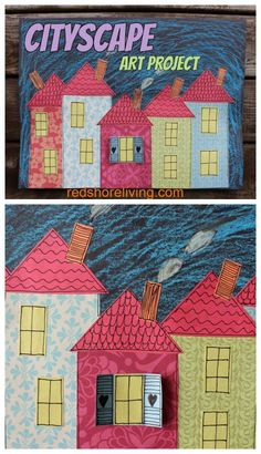 Cityscape Art Project for Kids - Free Art Tutorial for Kids - Red Shore Living